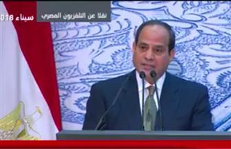 السيسي: مصر شهدت تحديات كبيرة.. والشعب كان يدا واحدةً في مواجهة قوى الشر والظلام