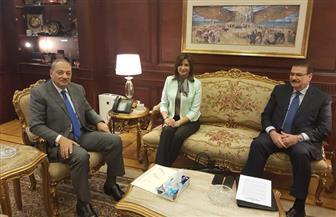 """وزيرة الهجرة تلتقي النائب العام لبحث قضية """"أبو القاسم"""" بحضور نقيب المهندسين"""