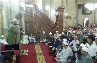 محافظ الإسكندرية يشارك في الاحتفال بليلة القدر بمسجد العارف أبي العباس المرسي| صور