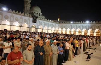 الآلاف يؤدون صلاة التراويح ويختمون القرآن في الجامع الأزهر | صور
