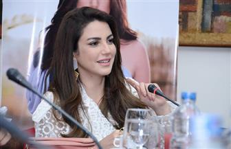 """درة في ندوة """"بوابة الأهرام"""": مصر بوابة النجاح للفنانين العرب.. ولدي هاجس العالمية   صور"""