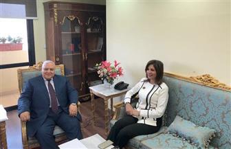 وزيرة الهجرة تستعرض مقترحات المصريون بالخارج مع رئيس الهيئة الوطنية للانتخابات