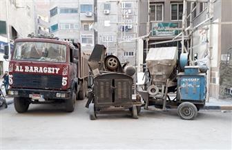 حي بولاق الدكرور يضبط  4 خلاطات مخالفة و3 سيارات مان| صور