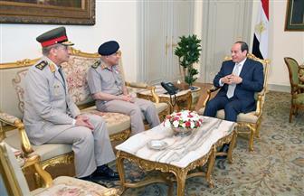 الرئيس السيسي يقدم الشكر للفريق صدقي صبحي على جهوده خلال الفترة الماضية
