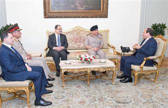 الرئيس السيسي يستقبل صدقي صبحي ومجدي عبدالغفار ووزيري الدفاع والداخلية الجديدين