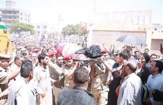 تشييع جنازة الشهيد المجند محمد عياد بقرية الزعفران بكفرالشيخ | فيديو