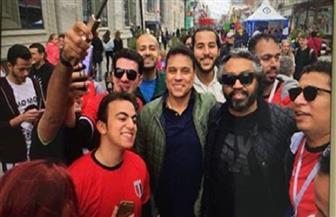 الجماهير المصرية تهتف للبدري في روسيا