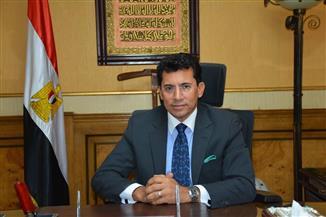 وزير الشباب والرياضة يتابع بطولة أحمد علي الدولية لكمال الأجسام