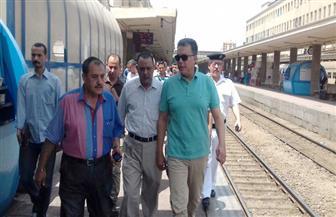 وزير النقل يتفقد انتظام حركة القطارات ومترو الأنفاق والمراسي النهرية   صور