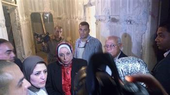 وزيرة الصحة تتفقد أعمال تطوير مستشفي التضامن للتأمين الصحي ببورسعيد| صور