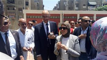 وزيرة الصحة تقرر دخول الجراحات المتخصصة لمستشفي النصر لأورام الأطفال   صور
