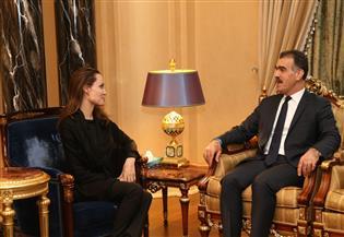 """يأوي 1.4 مليون نازح .. أنجلينا جولي من دهوك: """"كردستان العراق"""" نموذج لاحتضان اللاجئين وحمايتهم"""
