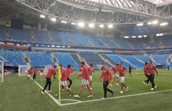 المنتخب الوطني يختتم تدريباته استعدادا لروسيا |صور