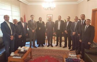 وفد من الكنيسة القبطية في لبنان يزور سفارة مصر ببيروت للتهنئة بعيد الفطر
