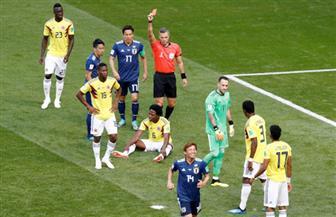 الكولومبي سانشيز يحصل على أول بطاقة حمراء في مونديال روسيا 2018