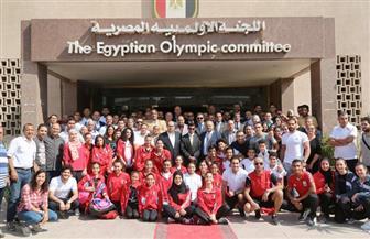 """وزير الرياضة يلتقى مجلس """"الأوليمبية المصرية"""" ورؤساء الاتحادات وأعضاء بعثة دورة ألعاب البحر المتوسط"""