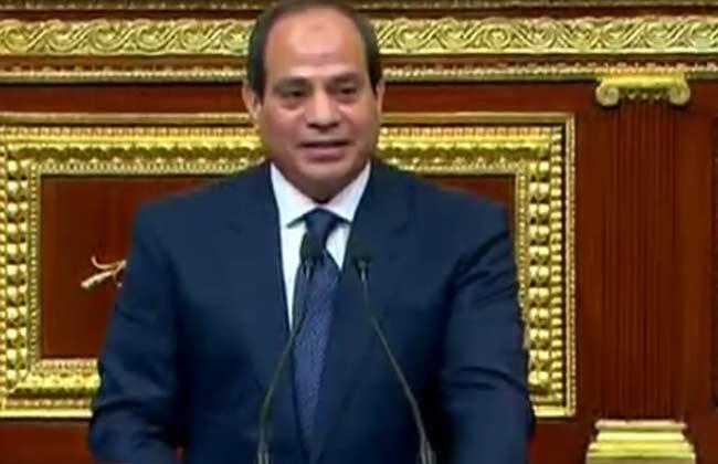 حدد فيها منهاج عمله للفترة الرئاسية الجديدة.. نص كلمة الرئيس السيسي أمام النواب -