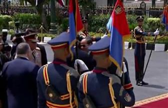 عزف السلام الوطني في استقبال الرئيس السيسي لمجلس النواب