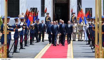 الرئيس السيسي يغادر مجلس النواب بعد أداء اليمين الدستورية