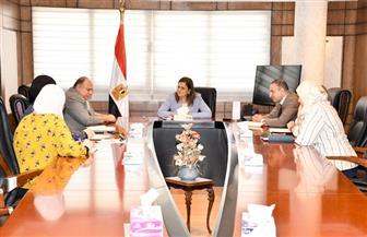 وزيرة التخطيط تناقش مشروعات تنموية مقترح تنفيذها فى الصعيد والسويس
