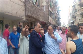 محافظ الإسكندرية: لا توجد أي إصابات جراء انهيار عقار حي وسط | صور