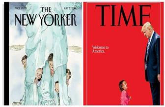 """الصحف الأمريكية: ترامب """"عدو الأطفال"""" يحول بلد """"تمثال الحرية"""" إلى سجن كبير   صور"""