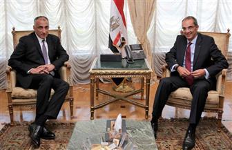 وزير الاتصالات يناقش مع محافظ البنك المركزي خطة الشمول المالي | صور