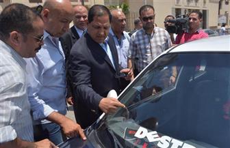 محافظ الغربية يتابع تطبيق تعريفة أجرة وسائل النقل الجديدة بطنطا | صور