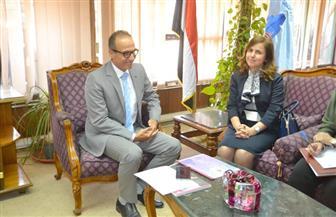 الحاج علي يستقبل مستشارة جامعة الدولة العربية لبحث تجهيزات معرض القاهرة للكتاب 2019