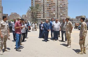 محافظ الإسكندرية يتفقد أعمال تطوير مشروع محور المحمودية | صور
