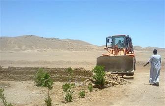 إزالة التعدي على 205 آلاف متر من أرض الدولة بمركز إدفو بأسوان