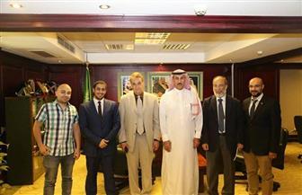 """""""الملحق الثقافي السعودي"""" يستقبل وفدا من جامعة المنصورة  صور"""