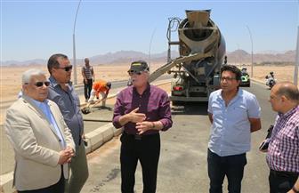 محافظ جنوب سيناء يتفقد مشروع ازدواج طريق شرم الشيخ بتكلفة 3.5 مليار جنيه