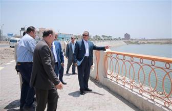 محافظ كفرالشيخ يتابع تنفيذ كورنيش بحيرة البرلس بتكلفة 24 مليون جنيه | صور