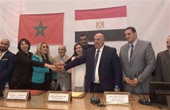 وفد من رجال أعمال يبحث فرص التعاون المشترك بين مصر والمغرب