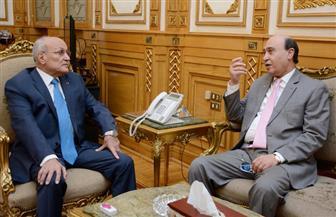 """""""العصار"""" و""""مميش"""" يبحثان سبل التعاون لتنمية محور قناة السويس"""