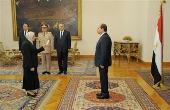 الرئيس يشهد أداء حلف اليمين للسيدة المستشارة أماني الرافعي رئيساً لهيئة النيابة الإدارية