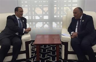 شكري يلتقي وزير خارجية موريتانيا على هامش أعمال الاجتماعات التمهيدية للقمة الإفريقية بنواكشوط