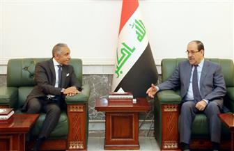 نوري المالكي يلتقي سفير مصر بالعراق.. ويؤكد: الإرهاب لن ينال منا