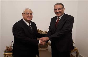 السفير السعودي يزور عدلي منصور