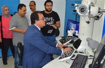 وزير التعليم العالى يتفقد مدينة الأبحاث العلمية ببرج العرب | صور