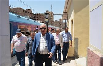 """رئيس """"مترو الأنفاق"""" يتفقد محطة المرج المؤقتة لمتابعة التجهيزات النهائية قبل غلق """"الجديدة""""   صور"""