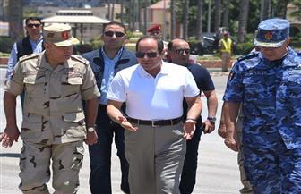 الرئيس السيسي يلتقي الضباط  والجنود عقب آداء صلاة الجمعة بالمنطقة الشمالية   صور