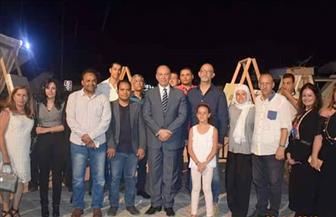 افتتاح المعرض الختامي لمهرجان الغردقة الدولي للفنون   صور
