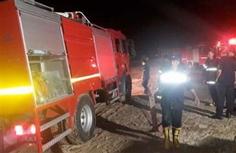 """حريق بأحد المحال وكافيتريا بمنطقة """"الكرنك"""" في جمصة"""