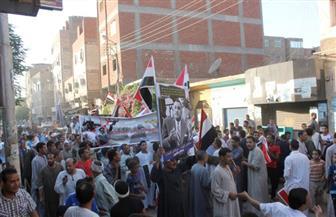 أبرز وقائع ثورة 30 يونيو في قنا ..المواطنون يحملون نعش الإخوان ويكذبون قناة الجزيرة ومظاهرات بالخيول |صور