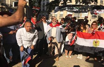 المصريون في فرنسا يحتفلون بذكرى 30 يونيو| صور وفيديو