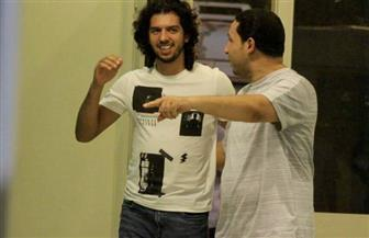 عمرو بركات في تدريب المقاصة لدعوة زملائه لحفل زفافه   صور