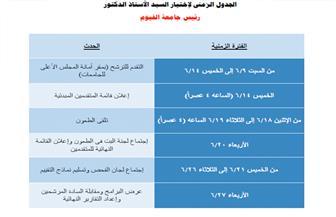 فتح باب الترشح لرئاسة جامعة الفيوم.. السبت