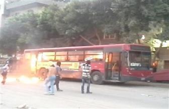 """السيطرة على حريق بأتوبيس نقل عام في """"مصطفى النحاس"""" بمدينة نصر"""